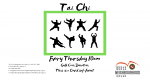 Tai Chi @ At the back of the Halls Gap Community Garden