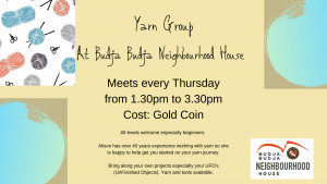 Yarn Group - Postponed @ Budja Budja Neighbourhood House